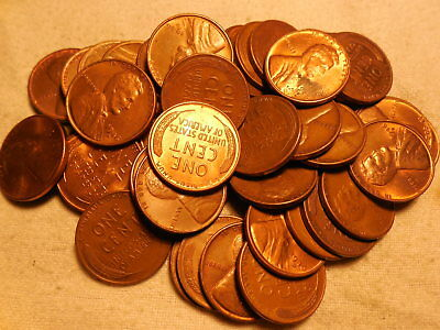 50 pcs.FULL ROLL LINCOLN WHEAT CENTS 1946-D AU/RB