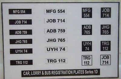 Car,Lorry,Bus Registration Plates sticker (F)
