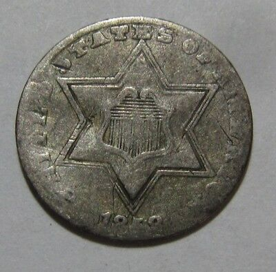 1858 Three Cent Silver - Circulated Condition - 42SA-2