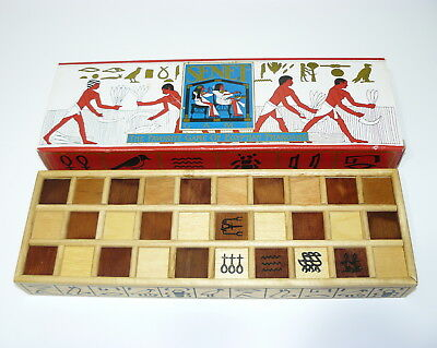 Rare Senet Ancient Egyptian Strategy Pharaohs Backgammon Game Wood Wooden Senat