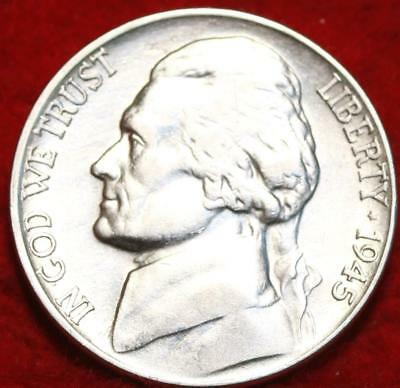 Uncirculated 1945-D Denver Mint Jefferson Nickel