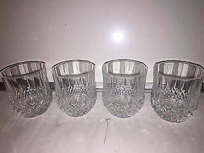 Cristal D'Arques  Double Old Fashioned Set Of 4 Glass Tumbler Longchamp