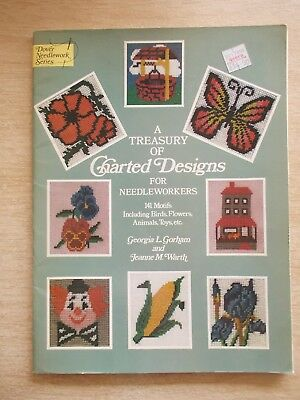 A Treasury of Charted Designs for Needleworkers~Dover~Cross Stitch~Needlepoint..