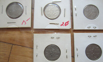 Set of Canada Five Cents (1922-1936 Nickels + KEY 1926 NEAR 6) NICE GRADE COIN