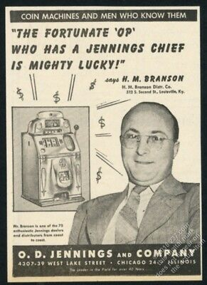1946 Jennings Chief slot machine photo vintage trade print ad 2