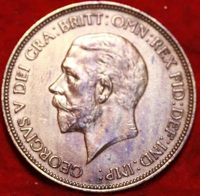Uncirculated 1936 Great Britain Penny Foreign Coin