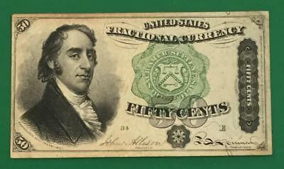 """1869 US Fractional Currency """"DEXTER"""" """"FIFTY CENTS"""" Choice FINE! Nice Currency"""