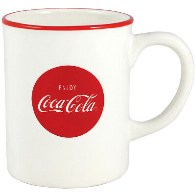 NEW Coke Ceramic Coffee Mug 12 Ounce Ceramic Coca-Cola Logo Tea Cocoa Drink Cup