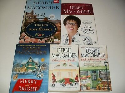 5 Debbie Macomber Books - Inn at Rose Harbor, Merry and Bright, One Perfect Word