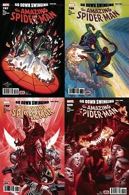 Amazing Spider-Man 797 798 799 800 lot Go Down Swinging Red Goblin 1st printing