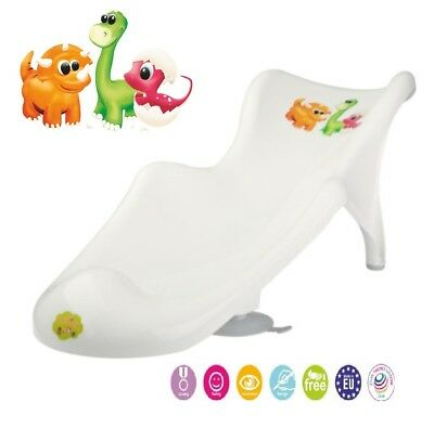 Baby Infant Newborn Toddler Bath Tub Safety Seat Support Chair Dino White