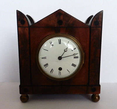 Grimalde And Johnson, Small English Bracket Clock  ca.1820.  Rare, Single Train.