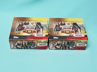 Topps WWE Slam Attax 10th Edition 2 x Display / 72 Booster