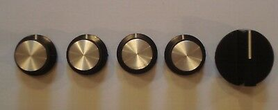 Sony TC-330 FRONT KNOBS Excellent Condition  ( 5 KNOBS ONLY AS SHOWN ) Parts