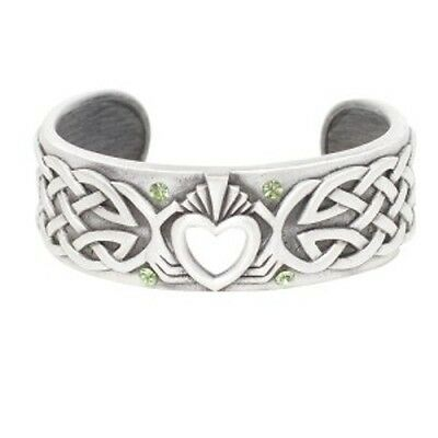 Celtic Style Endless Knot Love Heart Shape Bangle Cuff Bracelet Jewlery