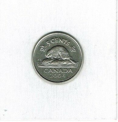 2004-P Canadian Brilliant Uncirculated Five cent Coin!