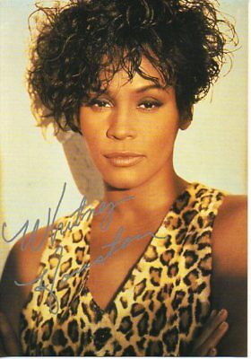 Autogramm - Whitney Houston