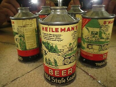 Heileman's Old Style Beer Cone Top Beer Can