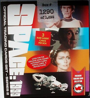 Space 1999 series 2 sealed box 3 autographs sketch?