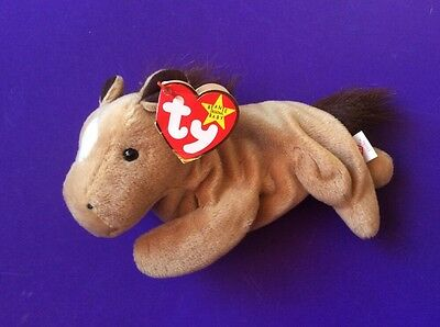 6885c5d9976 New Ty Beanie Babies Collection. Derby With Fur Mane And White Star