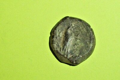 CAMPANIA CALES 265 BC Ancient GREEK COIN rooster chicken Athena war goddess old