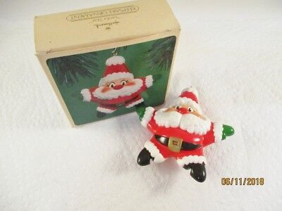 Hallmark Ornament Santa Star 1984