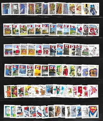 80 used Canada, all small stamps