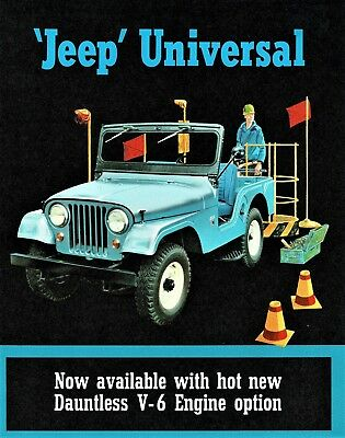 1965 Jeep Universal CJ-5 CJ-6 DJ-5 DJ-6 Dealer Sales Brochure