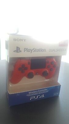 Sony DualShock 4 V2 for PS4 - New & Sealed - Red