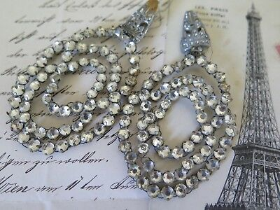 FRANKREICH 20s Art DECO Strass french rhinestone jewelry Ohrringe