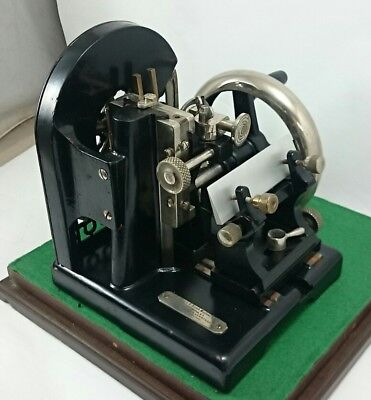 BAUSCH & LOMB Rotary MICROTOME Vintage Microscope Slide Cutter Plexiglass Case