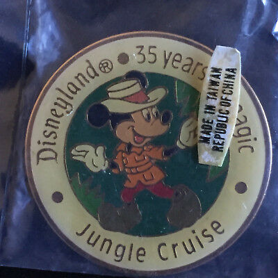 Disney DL - 35 Years of Magic Set - Jungle Cruise Mickey Mouse Brooch Pin SEALED