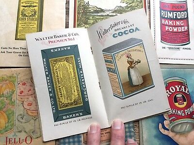 LOT of 10 Recipe & Other Booklets 1908-1932 JELLO Rumford KingsFords ALMANAC Old