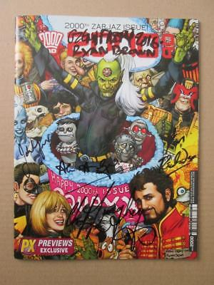2000AD Prog 2000 SIGNED x13 Wagner Grant Ezquerra Fabry Roach Doherty Sketch