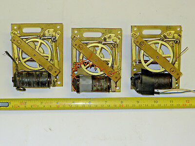 THREE vintage Gents PULSYNETIC electric slave clock movements for master