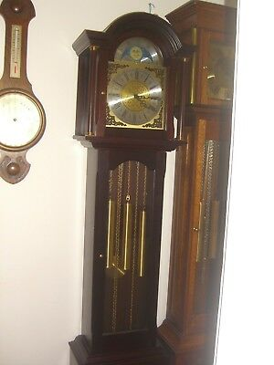 Mahogany Triple Chimes Grandfather Clock