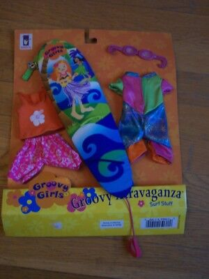 Groovy Girls Xtravaganza Surf Stuff Outfit/surfboard Brand New On Card