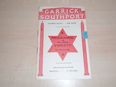 May 1934 Southport Garrick Theatre Programme Variety Bill+Local Adverts