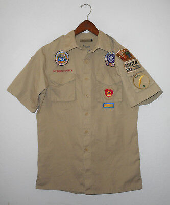 BOY SCOUTS Of America UNIFORM Shirt #2024 SEWN Patches Scout Adult Mens : SM