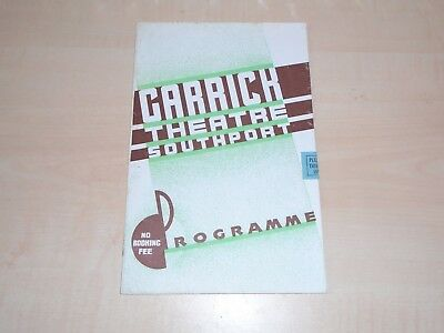 April 1938 Southport Garrick Theatre Programme Variety Bill+Local Adverts