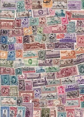 Egypt Vintage  Collection/accumulation 250+ Stamps
