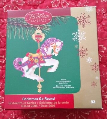 Lot of 7 carlton cards american greeting christmas ornaments most new carlton cards american greetings 2005 christmas go round ornament pony horse m4hsunfo