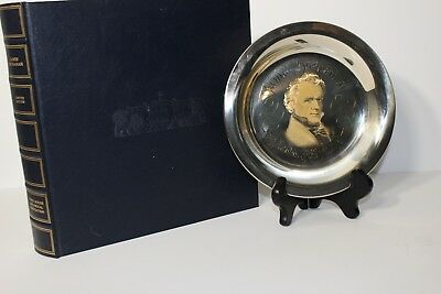 President James Buchanan Franklin Mint Sterling Silver Plate 24K Gold Inlay