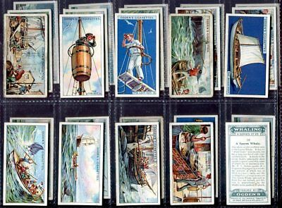 Tobacco Card Set, Ogdens, WHALING, Fishing, Whale Catching, 1927