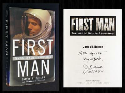 SIGNED - FIRST MAN: LIFE OF NEIL ARMSTRONG, James Hansen, Apollo 11 Moonwalk (4)