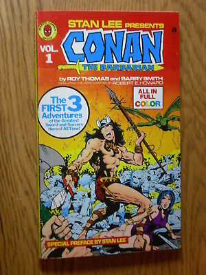 Stan Lee presents Conan #1 Smith  Paperback 1st 1978 Mint never opened