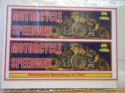 Motorcycle Speedway on Tour sticker decals, (c)