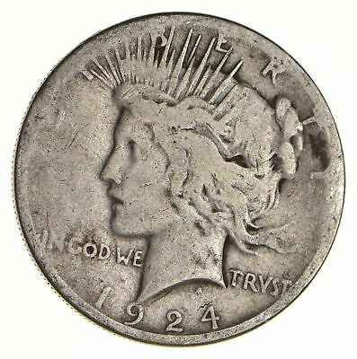 Early - 1924-S - Peace Silver Dollar - 90% US Coin *121