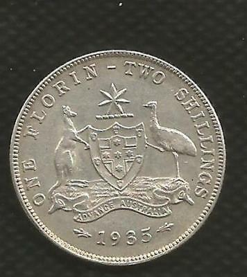 1935 Florin - George V - Extremely Fine Condition - With Lustre