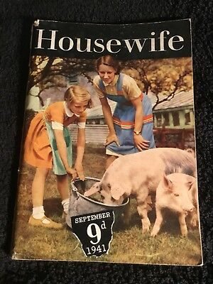 "Vintage 1941 'HOUSEWIFE"" Magazine September 1941 - 9d"